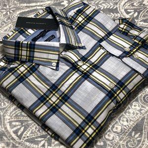 Men's NWT Tommy Hilfiger Custom Fit Plaid LS Shirt